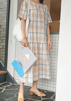 Banyan Tree Plaid Midi Dress