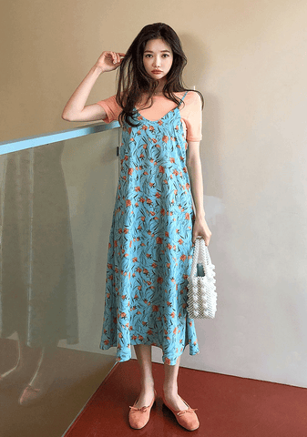 Bright Flower Long Dress