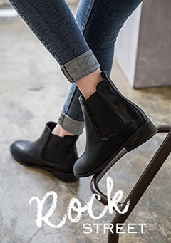 Banded Side Low Heel Ankle Boots