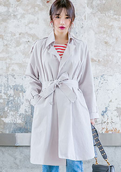 High Tie Trench Coat