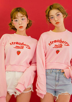 Strawberry Milk One Bite Sweatshirt