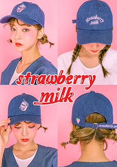 Strawberry Milk Drink Milk Cap