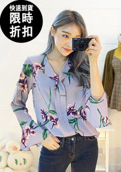 [SALE] Stunning Color Flower Spring Blouse