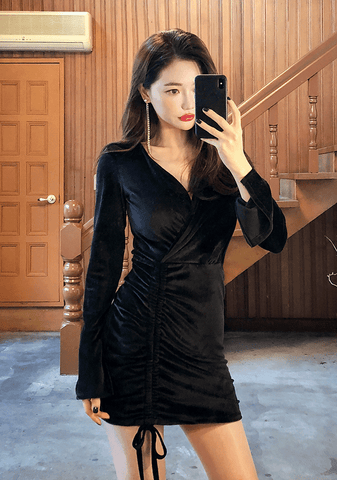 Late Night Velvet Dress