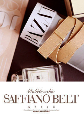 BUBBLE N CHIC<BR>Saffiano Belt