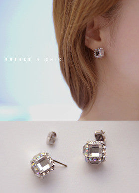 BUBBLE N CHIC<BR>Dice Cube Earring