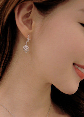 BUBBLE N CHIC<BR>Square Cube Earring