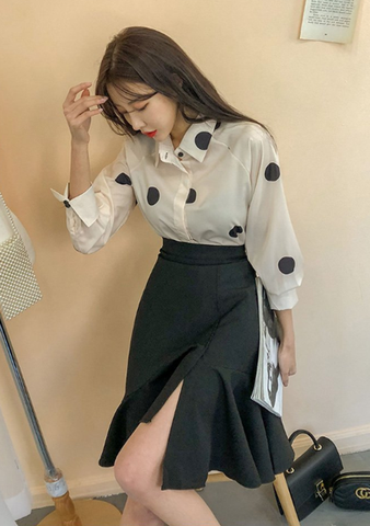 Ice Cream Jewel Shirt Skirt Set