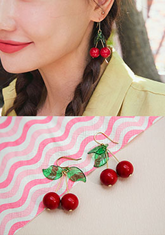 Fresh Cherry Ade Earrings