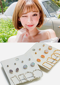 Everyday Layered Earrings Set