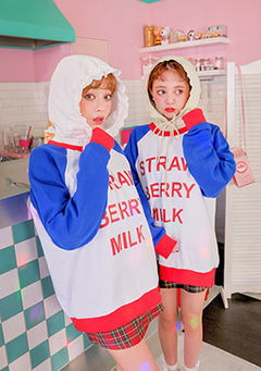 strawberry milk. Cool Strawberry Sweatshirt