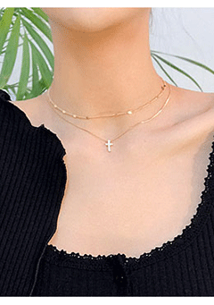 Christ Double Necklace