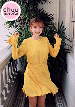 [CHUU MADE] Yellow Tint Dress