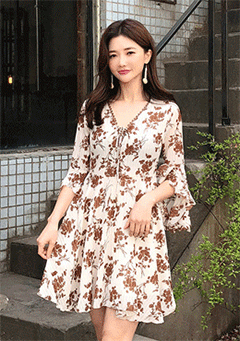 Time Is Up Floral Dress