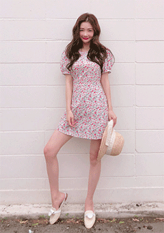 Blossoms Blow Mini Dress