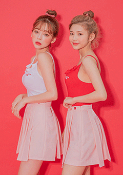 Strawberry Milk Frill Sleeveless Strawberry Tee