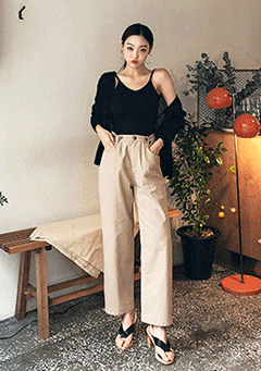 Silent Heel Wide Pants