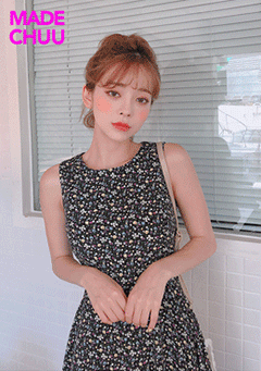 [CHUU MADE] Blooming At Night Dress