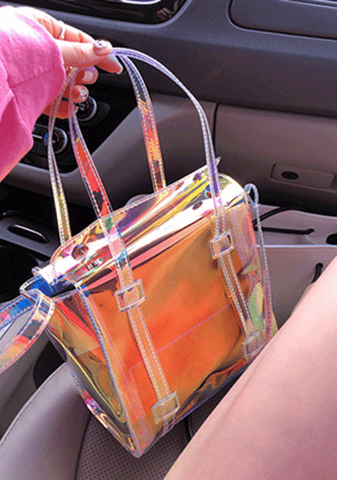 Blast The Music Transparent Bag