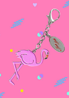Key Ring - Dancing Flamingo