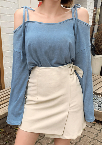 Belted And Unbalanced Skirt
