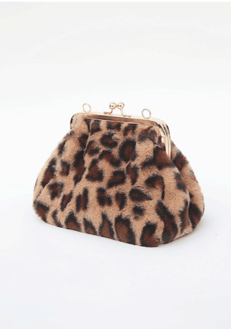 Faux Fur Chain Bag