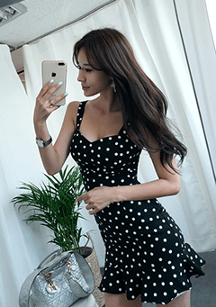 Jelly Dotted Frill Dress