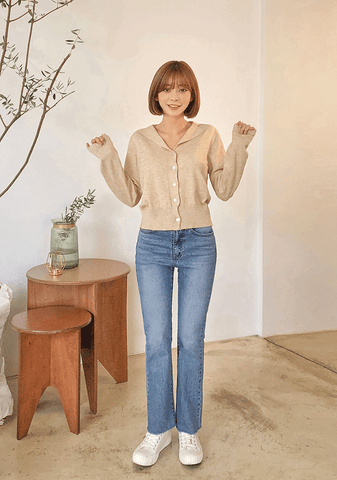Simple Knit Top Cardigan