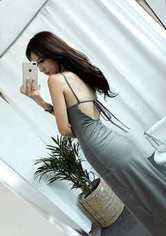 Dressy Halter Neck Long Dress