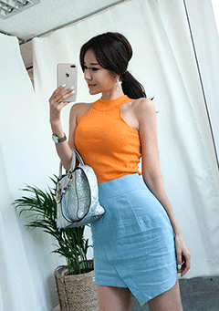 Slim Fit Halter Neck Tee
