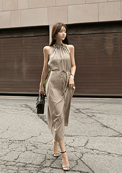 Amazing Halter Neck Long Dress