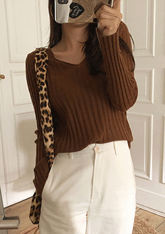 Other People Ribbed Knit Top