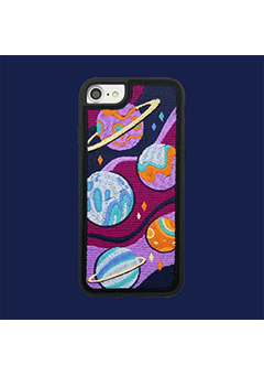 Embroidery Case - Space