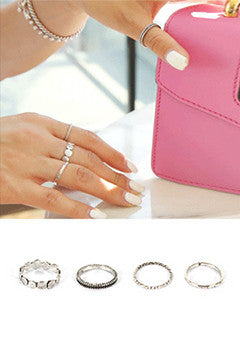 Four-Piece Fashion Ring Set