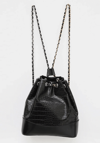 Leather Chain Mini Backpack