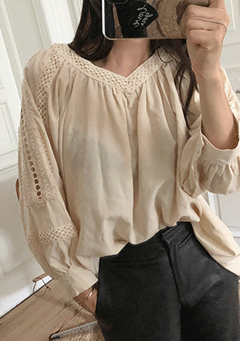 The Breakthrough Lace Details Blouse