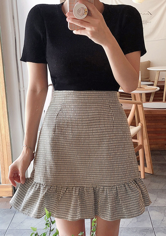 Summer Cutie Checkered Skirt