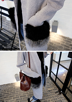 Fur Pocket Detail Cardigan