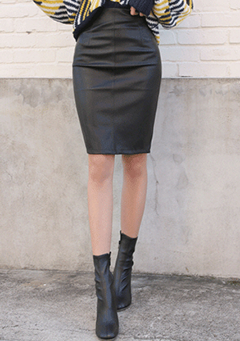 Simple Leather Skirt