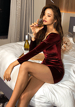 Moonlight Serenade Velvet Bodycon Dress