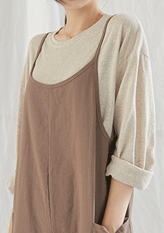 Linen Long-Sleeve Basic Tee