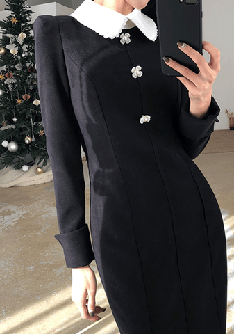 In The New Year Collar Dress