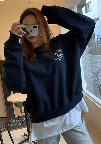 Lake View Layered Sweatshirt