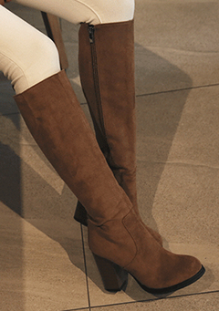 Block Heeled Knee-High Boots