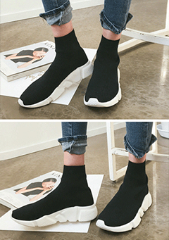 Ankle-High Slip-On Sneakers