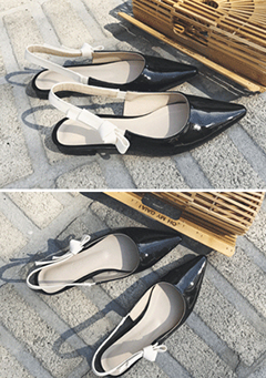 Ribbon Sling Back Flats