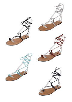 Flat Lace-Up Gladiator Sandals