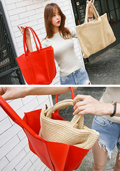 Two-Way Carry Tote Bag
