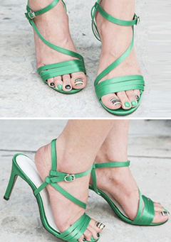 Open Toe Ankle Strap Stiletto Sandals