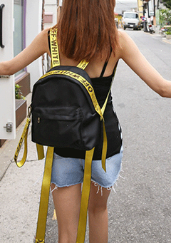 OFF-WHITE Lettering Strap Backpack